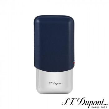 S.T. Dupont  ブルー 3本 シガーケース 183023 エス・テー・デュポン 183023