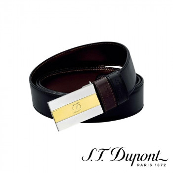 S.T. Dupont エス・テー・デュポン ビジネス リバーシブルベルト ブラック&ブラウン 6660120 6660120