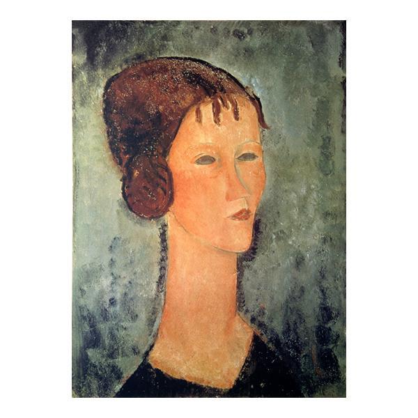 プリハード 巻毛髪の少女 5438 額縁C アメディオ・モディリアーニ P10号