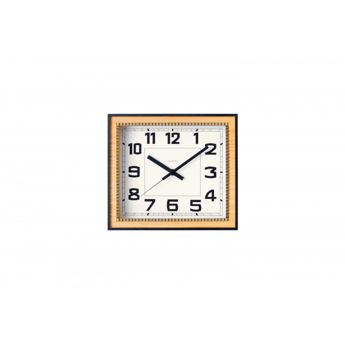 BRASS RECTANGLE CLOCK 掛置き兼用時計 OAK・CH-053OA