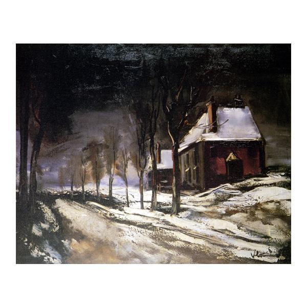 プリハード P10号 モーリス・ド・ブラマンク 雪と道の家 5260 額縁D