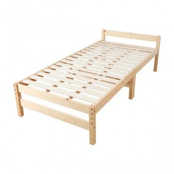 高さ調節できる天然木すのこベッド (シングル) ナチュラル MRB-100N
