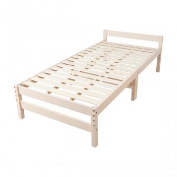 高さ調節できる天然木すのこベッド (シングル) ホワイト MRB-100W