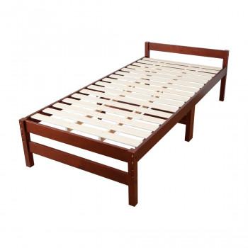 高さ調節できる天然木すのこベッド (シングル) ブラウン MRB-100B