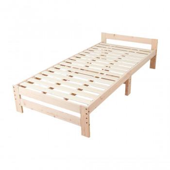 高さ調節できる日本檜のすのこベッド 棚なし JHB-100