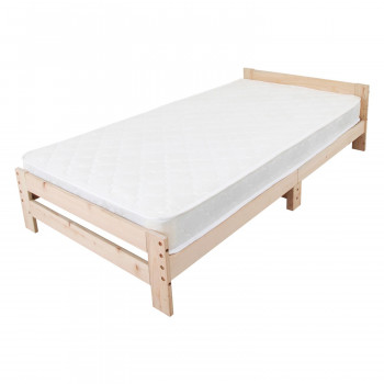 高さ調節できる檜すのこベッド 棚なし マットレスセット JHB-100MTS