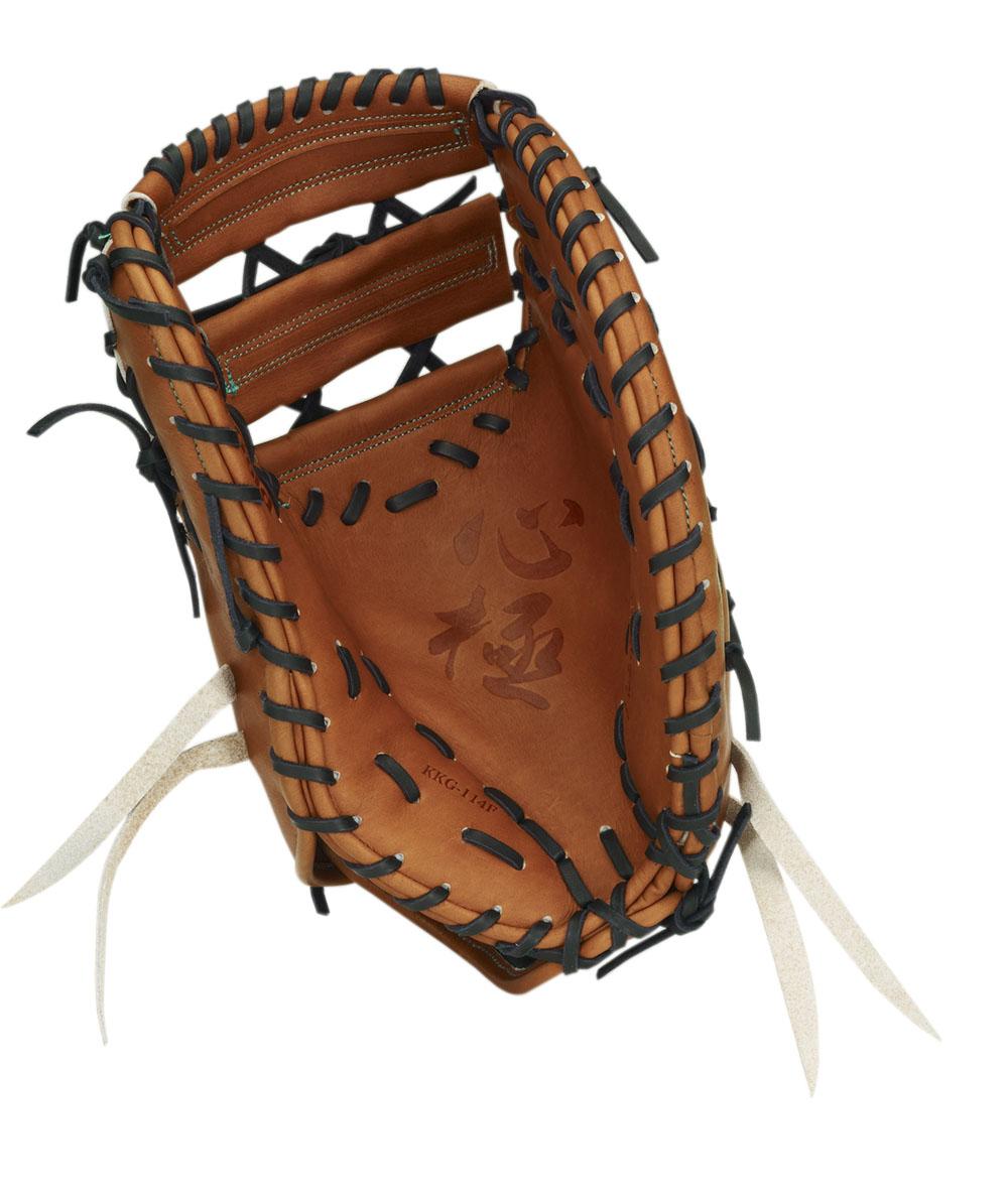 送料無料 2018年モデル ハイゴールド HI-GOLD一塁手用 硬式 ミット グローブ ブラウン 茶 高校 野球 KKG-114F