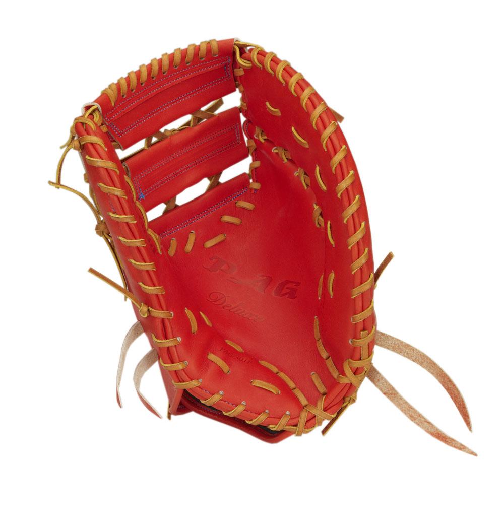 一塁手用 硬式 ミット ハイゴールド HI-GOLD グローブ オレンジ 橙 高校 野球 PAG-301F 送料無料 2018年モデル