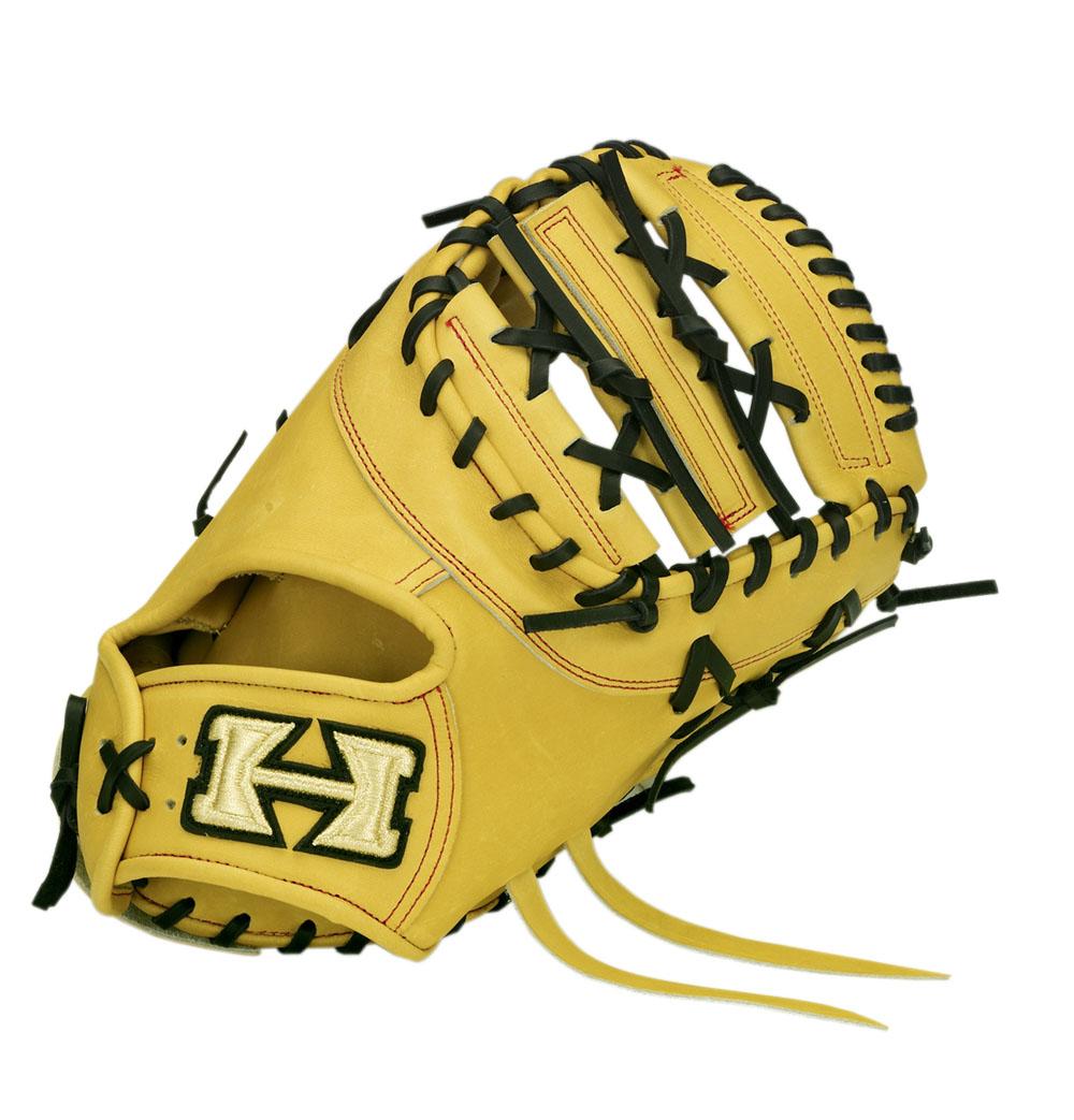 一塁手用 硬式 ミット ハイゴールド HI-GOLD グローブ オレンジ 橙 高校 野球 PAG-302F 送料無料 2018年モデル
