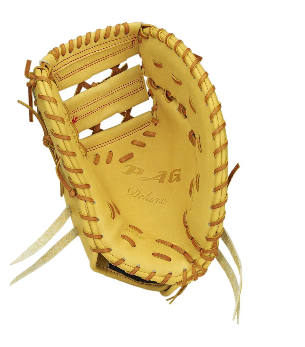 一塁手用 硬式 ミット ハイゴールド HI-GOLD グローブ イエロー 黄 高校 野球 PAG-303F 送料無料 2018年モデル