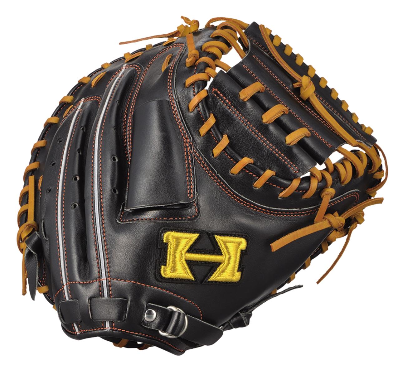 ハイゴールド 軟式野球ミット 己極シリーズ 捕手用グローブ ブラック×タン OKG633M