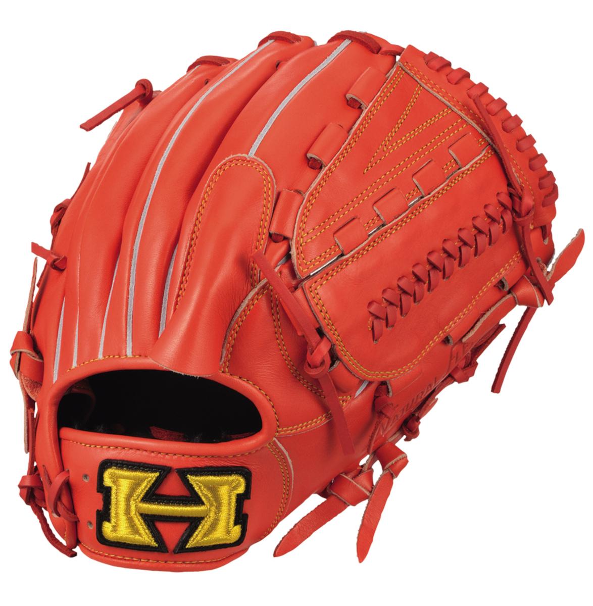 ハイゴールド 軟式野球グラブ 己極シリーズ 投手用グローブ ファイヤーオレンジ OKG6431