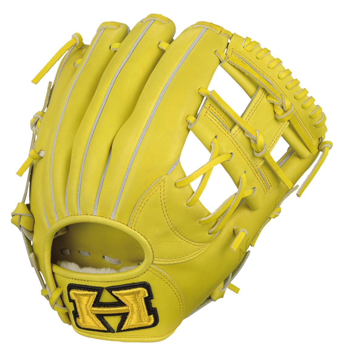 ハイゴールド 少年硬式野球グラブRookies(ルーキーズ) L-LLサイズ グローブ ナチュラルイエロー RKG-K501