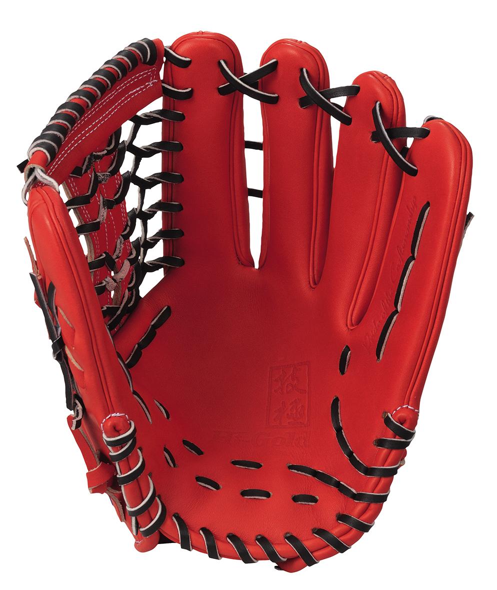 ハイゴールド 硬式野球グラブ 技極シリーズ 外野手用グローブ ファイヤーオレンジ×ブラック WKG1078FOR 送料無料 2020年モデル