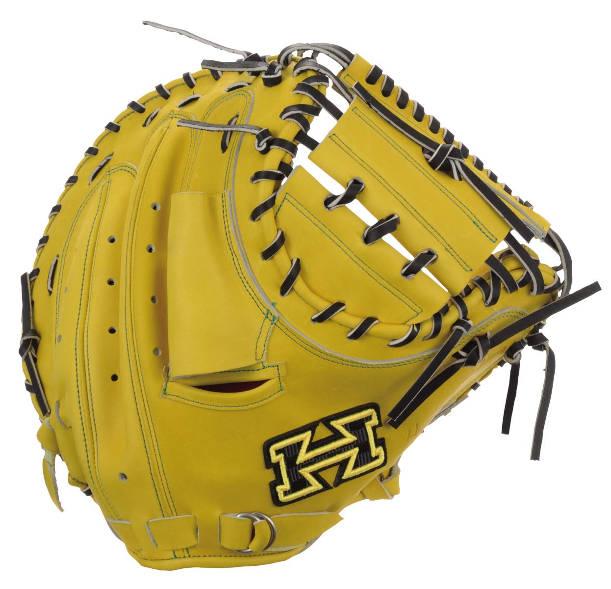 ハイゴールド 硬式野球ミットPAG DELUXE(デラックス)シリーズ 捕手用グローブ ファーストバック PAGイエロー×ブラック 右投げ PAGC200 送料無料 2020年モデル