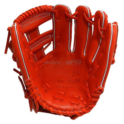 三塁手・オールポジション用 硬式 グラブ ハイゴールド HI-GOLD グローブ オレンジ 橙 コルク 高校 野球 KKG1165 送料無料 2018年モデル