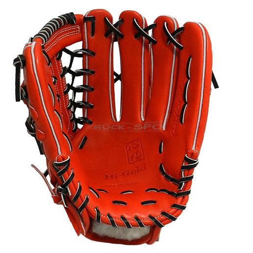 外野手用 硬式 グラブ ハイゴールド HI-GOLD グローブ オレンジ 橙 コルク 高校 野球 KKG1168 送料無料 2018年モデル
