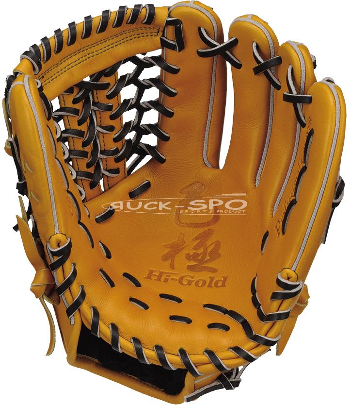 三塁手/オールポジション用 軟式 グラブ ハイゴールド HI-GOLD 黄土 ナチュラル 高校 中学 一般 野球 OKG6025 送料無料 2019年モデル