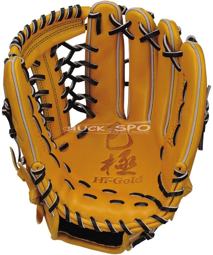 外野手用 軟式 グラブ ハイゴールド HI-GOLD グローブ 黄土 ナチュラル 高校 中学 一般 野球 OKG6028 送料無料 2019年モデル