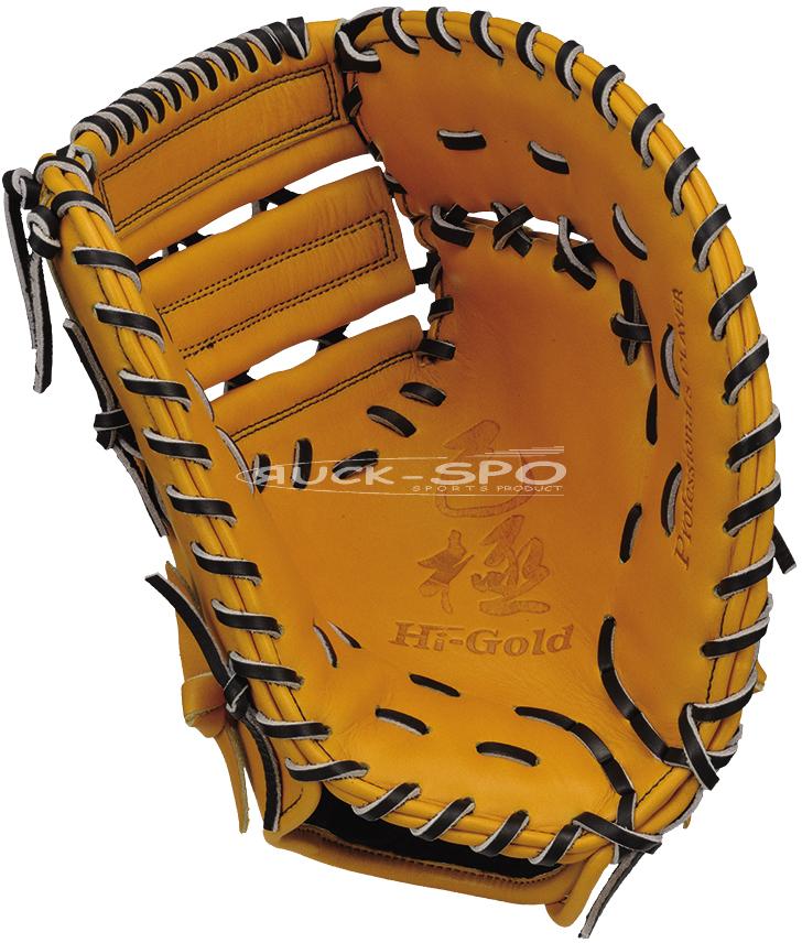 一塁手用 軟式 ミット ハイゴールド HI-GOLD グローブ 黄土 ナチュラル 高校 中学 一般 野球 OKG602F 送料無料 2019年モデル