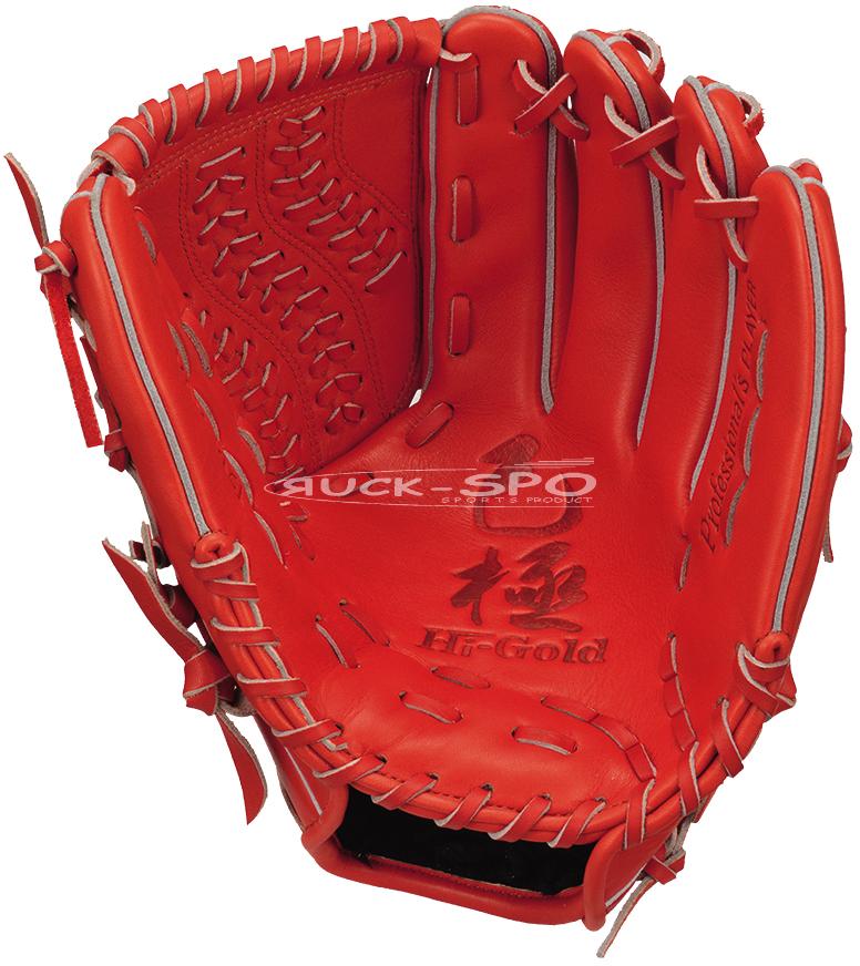 投手用 軟式 グラブ ハイゴールド HI-GOLD グローブ 橙 オレンジ 高校 中学 一般 野球 OKG6121 送料無料 2019年モデル