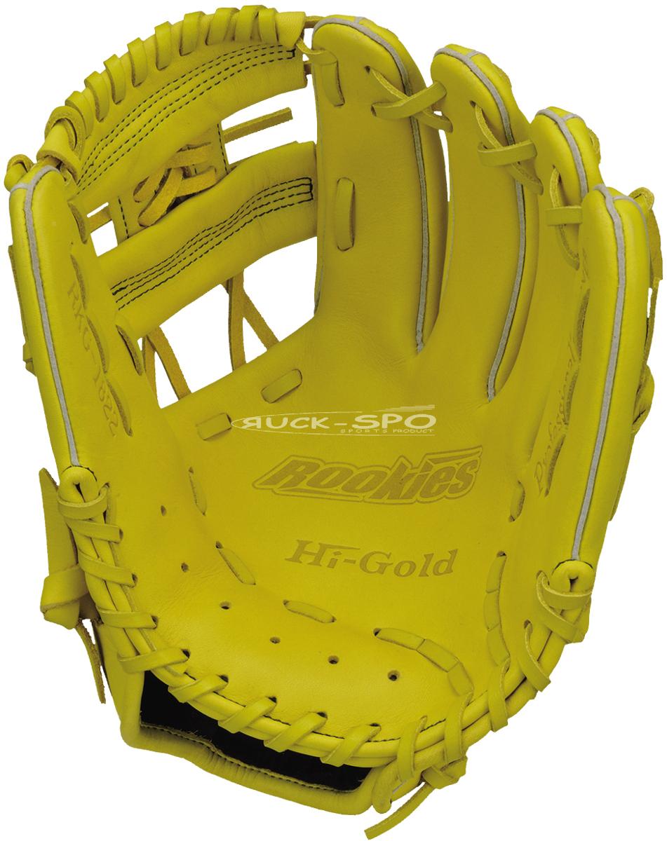 軟式少年野球グローブ ハイゴールド HI-GOLD M-Lサイズ 軟式 グラブ グローブ イエロー 黄 少年 野球 RKG1822 送料無料 2019年モデル
