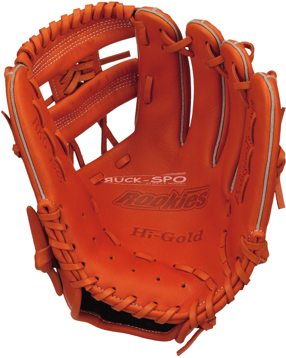 軟式少年野球グローブ ハイゴールド HI-GOLD M-Lサイズ 軟式 グラブ グローブ オレンジ 橙 少年 野球 RKG1823 送料無料 2019年モデル