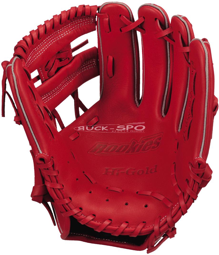 軟式少年野球グローブ ハイゴールド HI-GOLD M-Lサイズ 軟式 グラブ グローブ レッド 赤 少年 野球 RKG1825 送料無料 2019年モデル