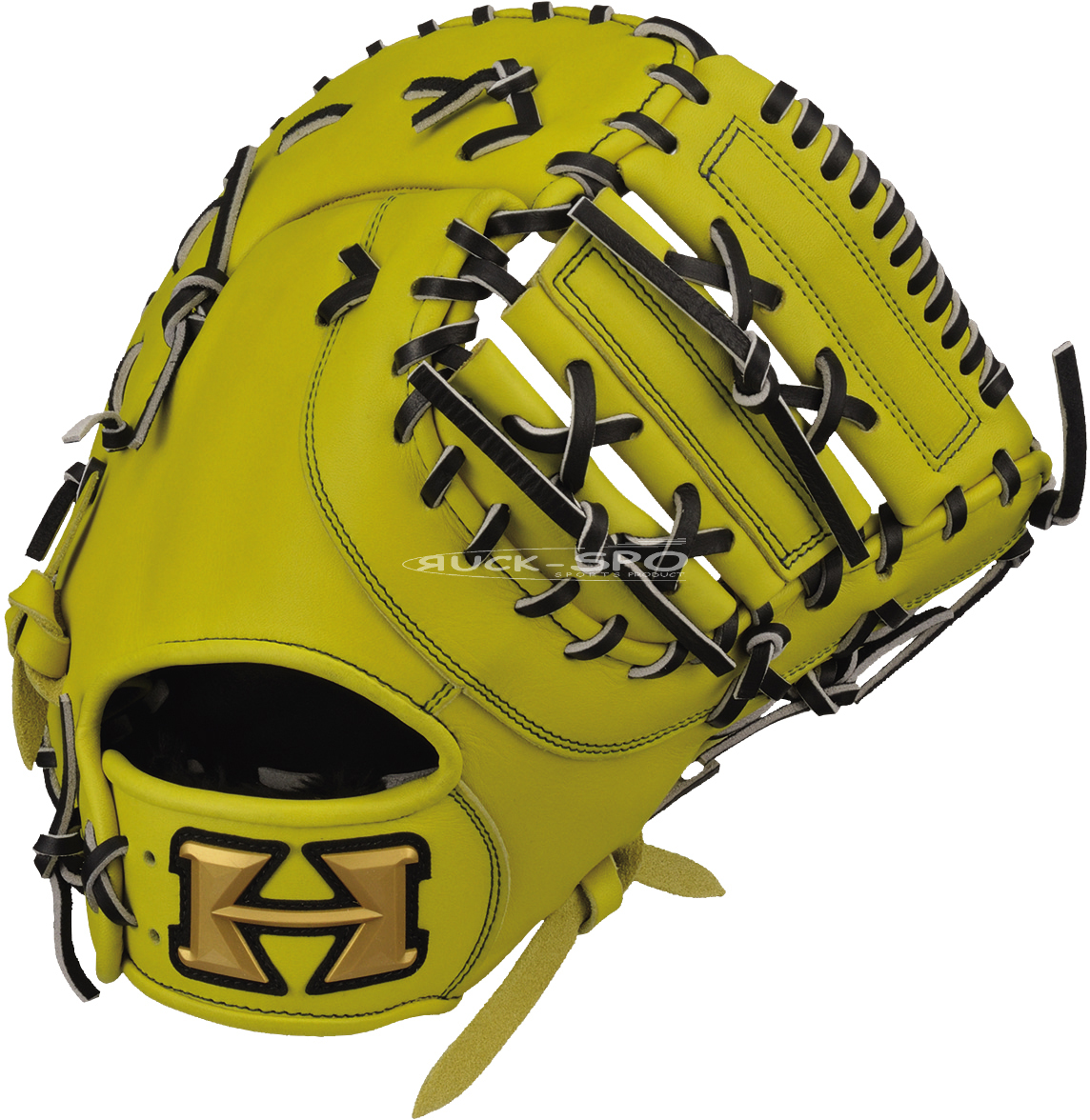 2019年モデル ハイゴールド HI-GOLD 一塁手用 軟式 ミット グローブ イエロー 黄 少年 野球 RKG193F 送料無料
