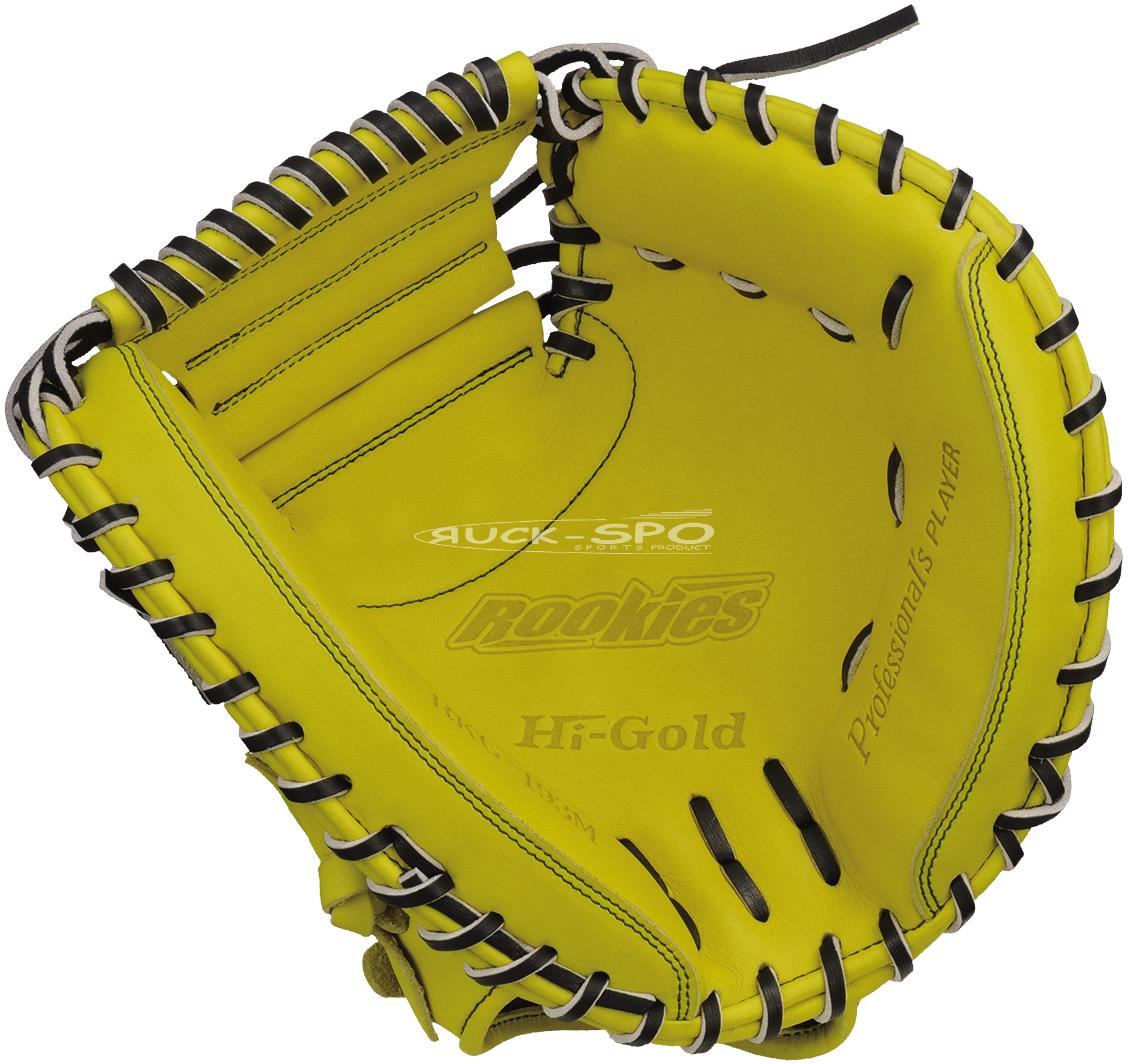軟式少年野球ミット ハイゴールド HI-GOLD 捕手用 軟式 ミット グローブ ナチュラルイエロー 黄 少年 野球 RKG193M 送料無料 2019年モデル