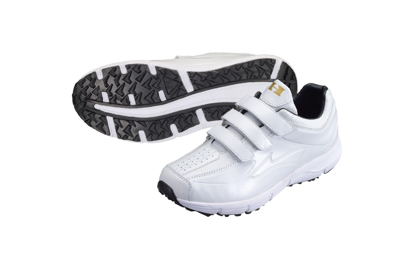 トレーニングシューズ 3本ベルト ホワイト×ホワイト 25.0cm~29.0cm,30.0cmPU-800W