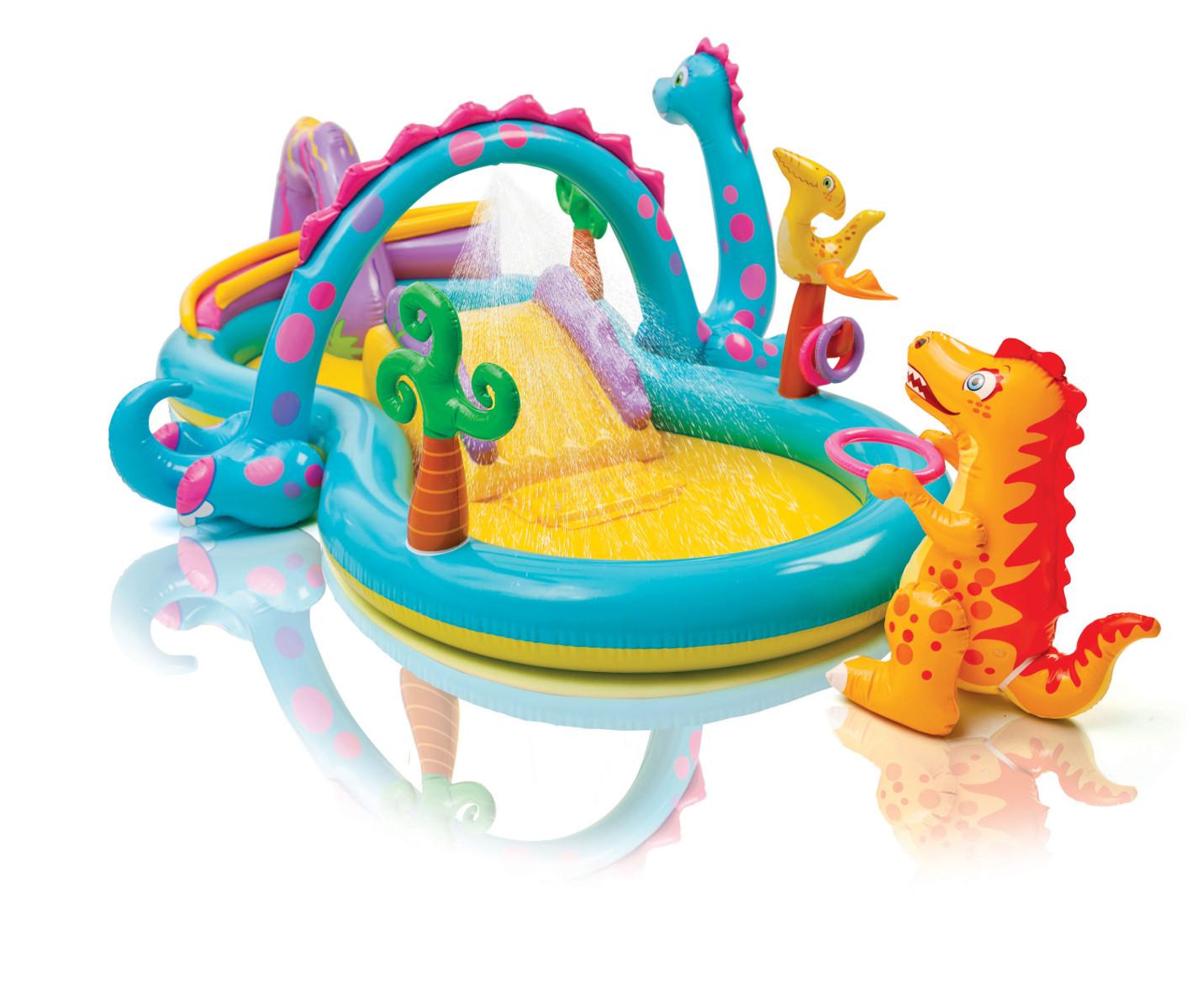 プール ビニールプール INTEX(インテックス) 家庭用 ベランダ 庭 子供 大人 ファミリー キャラクター ディノランドプレイセンター 57135