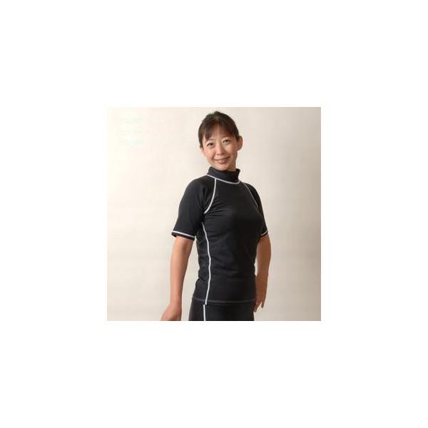 あったか水着 体型カバー水着 セパレートタイプ Tシャツ+五分丈パンツ サイズ/S・M・L・LL