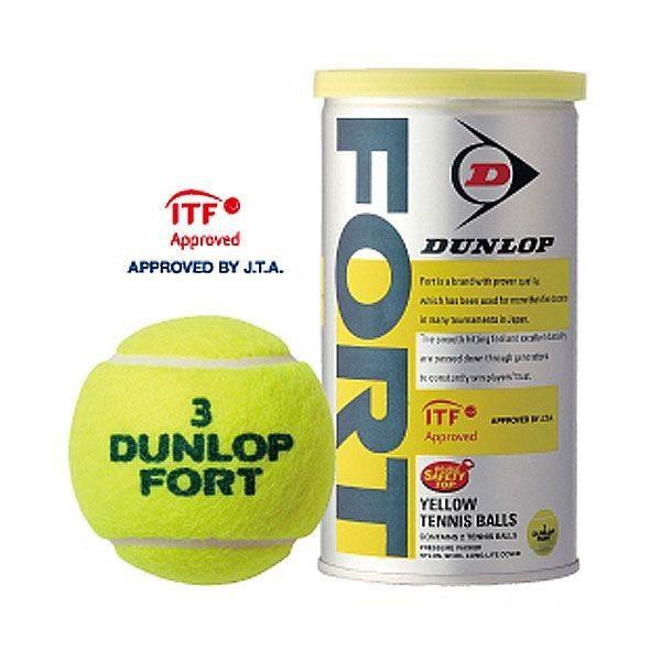 硬式テニスボール ダンロップ DUNLOP 硬式テニスボール FORT フォート 2P缶入×30