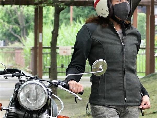 バイクウェア ツーリング ライディングジャケット 夏用 メッシュ プロテクター おしゃれ 安い 激安 プチプラ 高品質 業界No.1 maxfritz MFB-2361 femme マックスフリッツファム 女性用 メッシュスリーブシングルライダースJK レディース