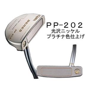 【新品】【保証書付】(6119)HONMA BERES PP-202 パター マレット型 高級 光沢ニッケルプラチナ色/光沢ニッケル黒染め (ホンマゴルフ べレス PP-202 パター マレット型)