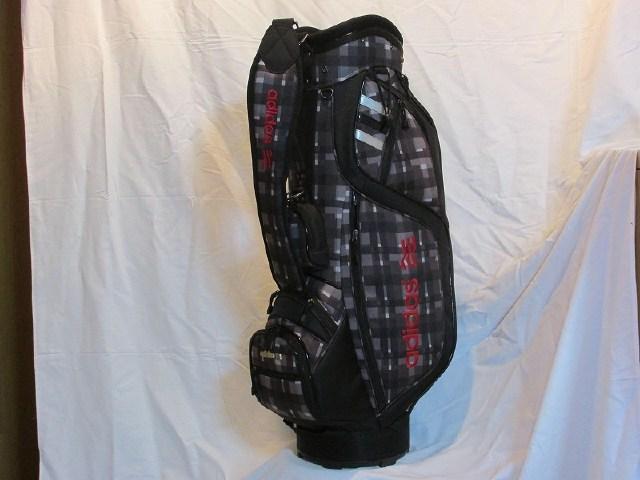 【中古】[5538]【あす楽】【Bランク】CB9型 アディダス QR470 ブラック 9型 3.5kg キャディバッグAdidas QR470 9inch black 3.5kg Secondhand caddie bag./ポリエステル×ナイロン