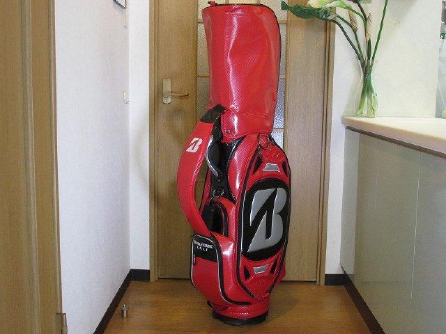【中古】[7619]【あす楽】【ABランク】CB9.5型 ブリヂストンゴルフ ツアーモデル レプリカ キャディバッグ CBG502 赤黒BRIDGESTONE GOLF Tour Model replica Caddy bag CBG502 Red Black 9.5inch