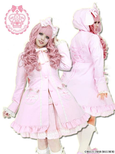 8R3001 薔薇ウサギのウサ耳コート(うさみみ、ロリータ、ロリィタ)