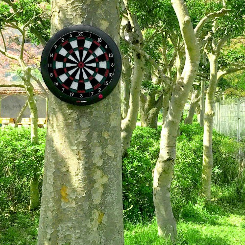 就這樣到處都鏢點! 如果有Gran豪華鏢皮帶Gran darts Belt皮帶的話,是哪裏,但是OK! 能在鏢板裝設器具門和柱子和樹得到的鏢板持有人飛鏢遊戲