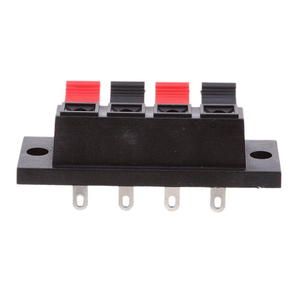 4極 プッシュ式 スピーカーターミナル プッシュターミナル 4端子 10個セット ポイント消化 4P 大注目 激安特価品