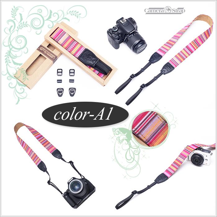 【メール便】 カメラネックストラップ一眼レフ / ミラーレス一眼レフ用☆カメラ女子にも Canon Nikon Sony leica olympus OM-D