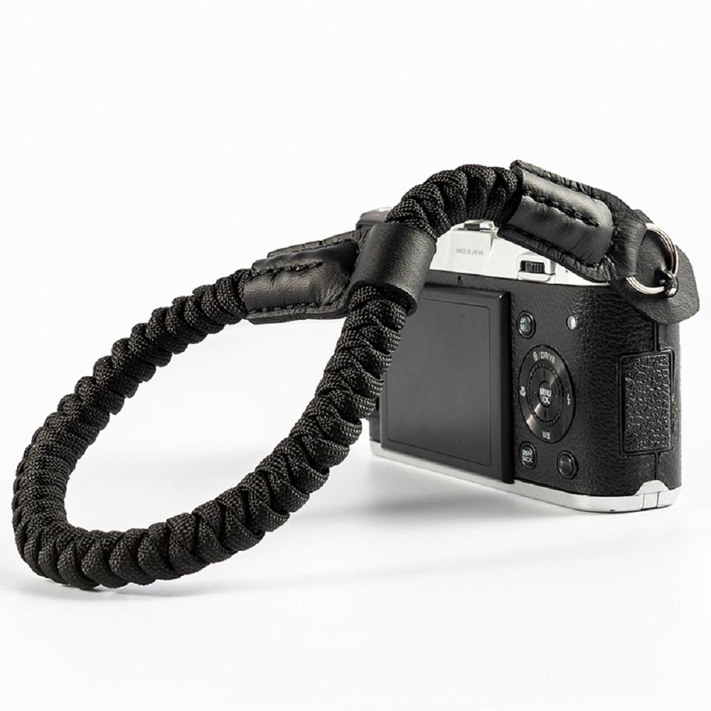 クライミングロープ製 おしゃれで丈夫なカメラ用ハンドストラップ 限定Special Price クライミングロープ カメラ用 ブラックA01573 全6色 編込タイプ ハンドストラップ 期間限定
