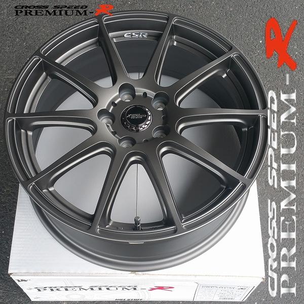 ■ CROSS SPEED プレミアムR ■18X7.0J+53 225/40R18 タイヤ付 数量限定お買い得品!!FF車/ミニバン推奨サイズ ノアヴォクシー他