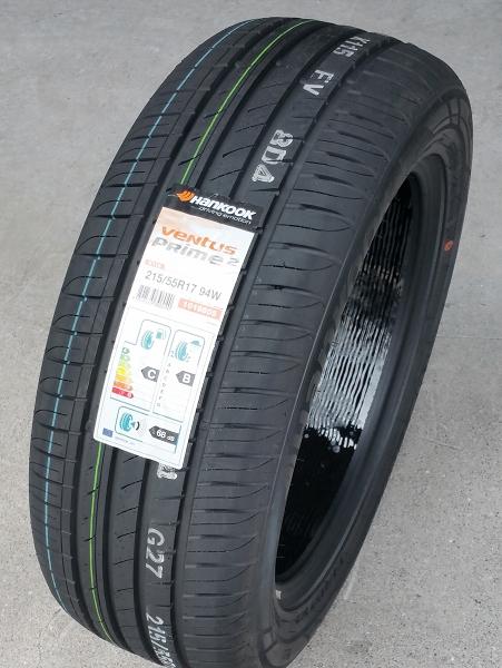 Hankook VENTUS PRIME-2 (K115)215/55R17 94W SEALGUARD®仕様 タイヤ4本セットハンコックタイヤ日本正規販売品フォルクスワーゲン OEMタイヤ在庫少量/アウトレットプライス!!