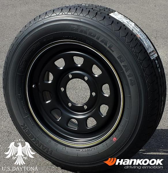 ■ U.S.Daytona デイトナ ■Hankook 215/65R16 タイヤ付4本セットマットブラックカラー 200系ハイエース他