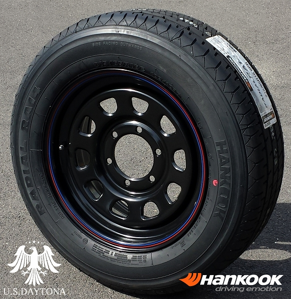 ■ U.S.Daytona デイトナ ■Hankook 215/65R16 タイヤ付4本セットブラックカラー 200系ハイエース他