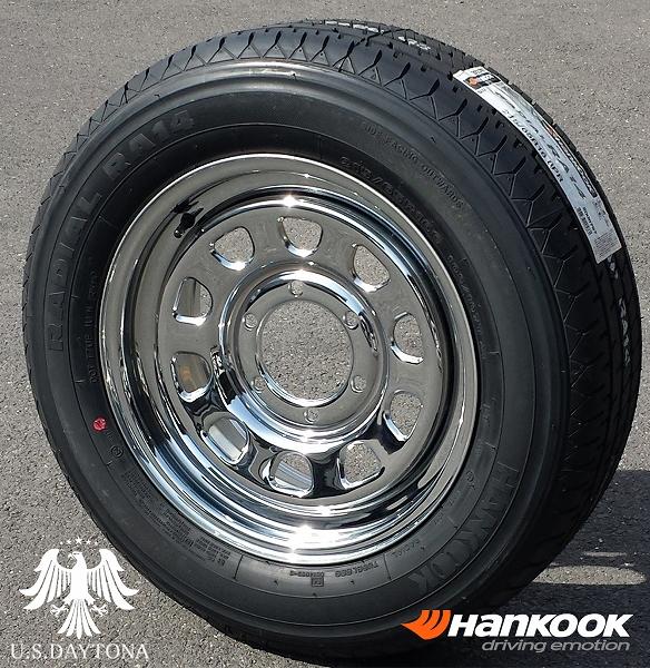 ■ U.S.Daytona デイトナ ■Hankook 215/65R16 タイヤ付4本セットクロームメッキ 200系ハイエース他