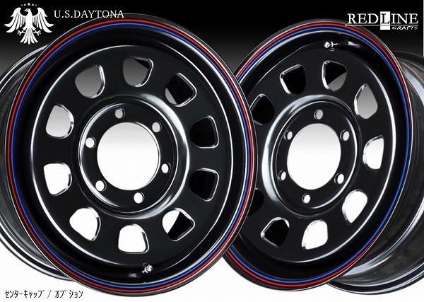 ■ U.S.Daytona デイトナ ■GOODYEARナスカー 215/65R16 タイヤ付ブラックカラー 日産NV350/E26キャラバン他