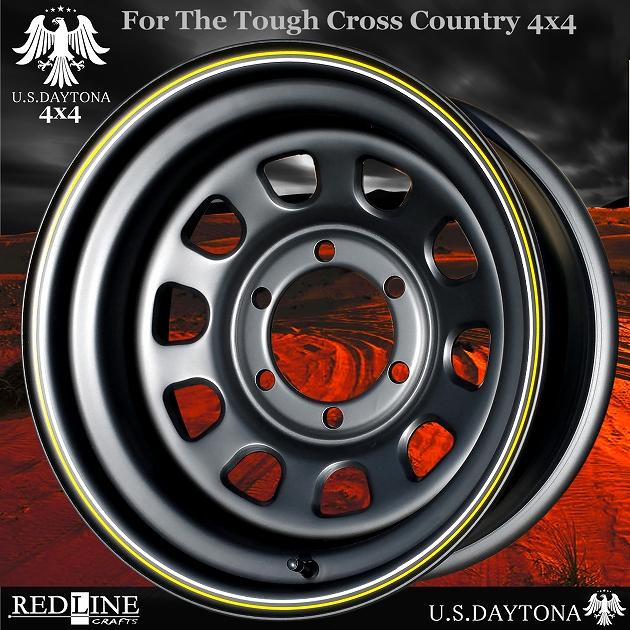 ■ U.S.Daytona 4x4 ■ ホイール4本セット16x8.0J OFF-25/PCD139.7ランドクルーザー80/サファリ/オーバーフェンダー4WD他怒涛のディープフォルム!!